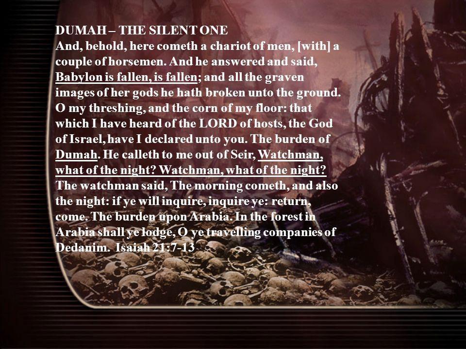 DUMAH – THE SILENT ONE