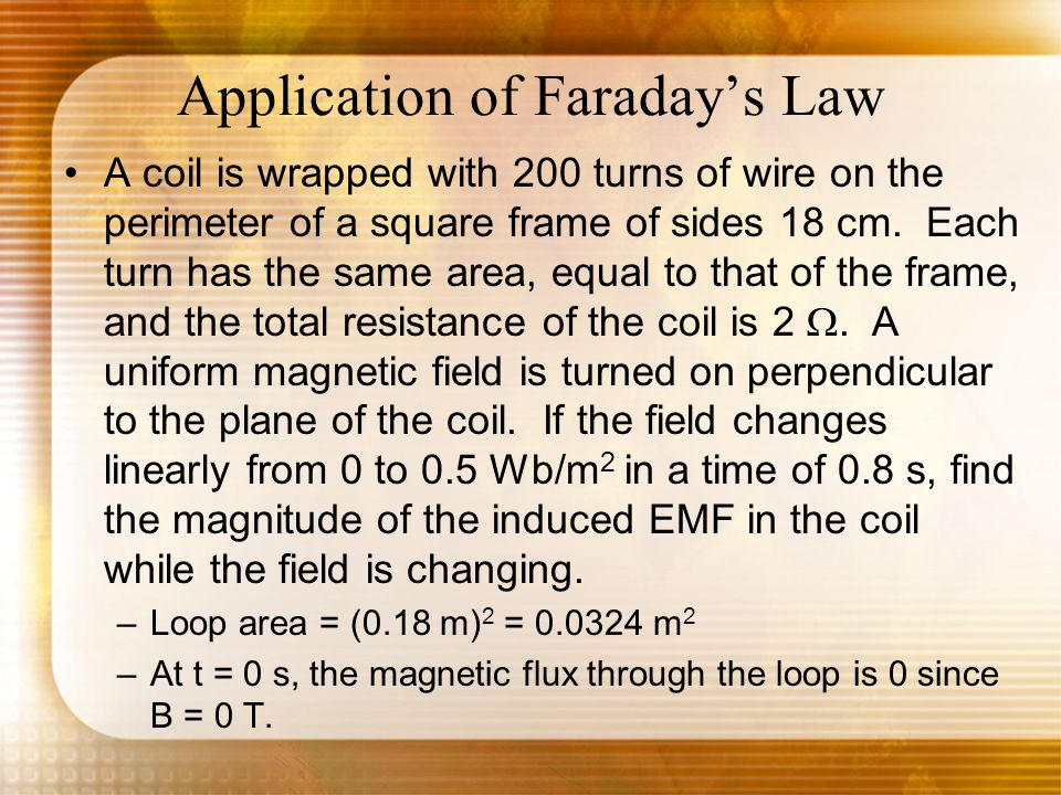 Application of Faraday's Law