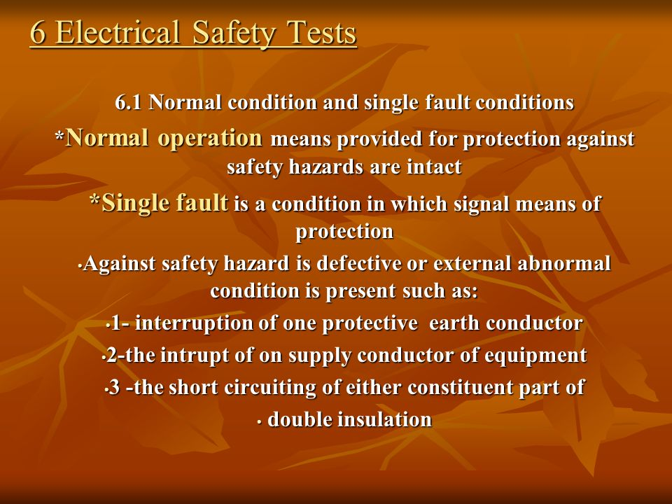 6 Electrical Safety Tests