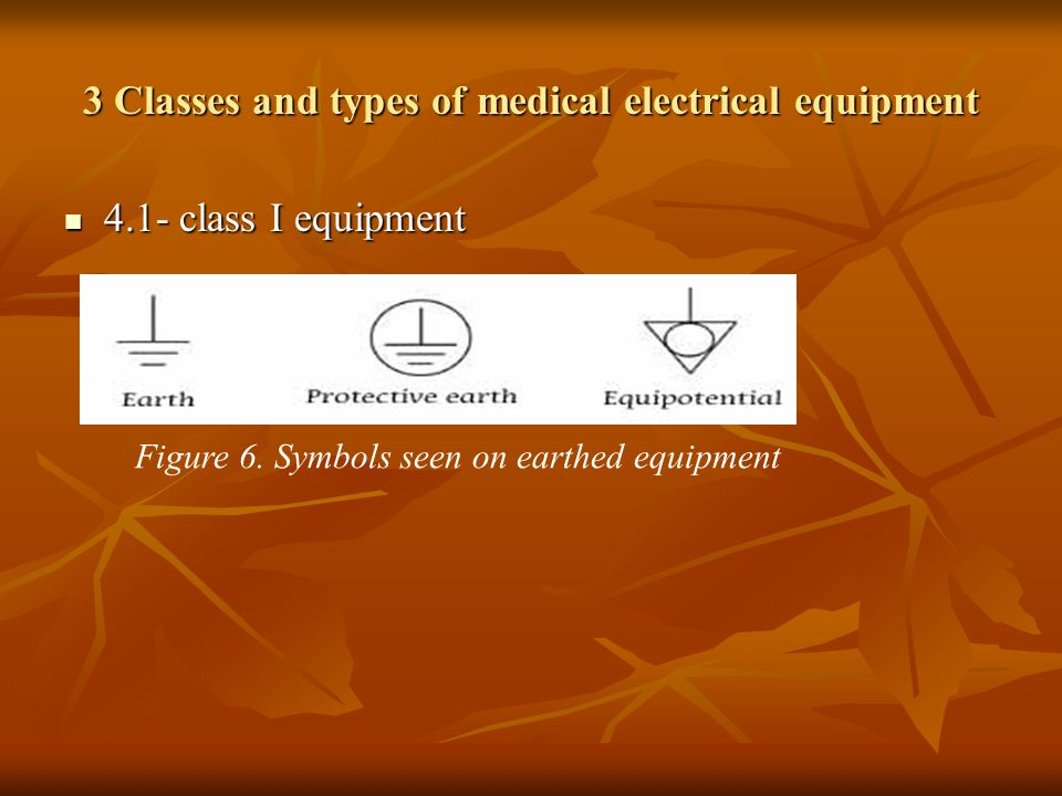 3 Classes and types of medical electrical equipment