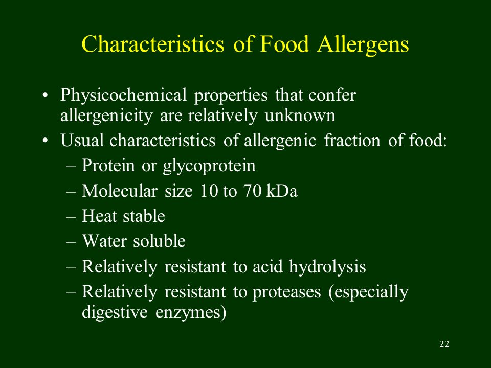 Characteristics of Food Allergens
