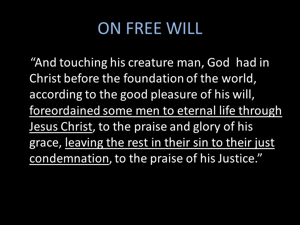 ON FREE WILL
