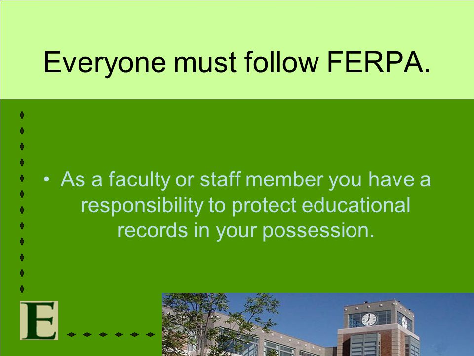 Everyone must follow FERPA.