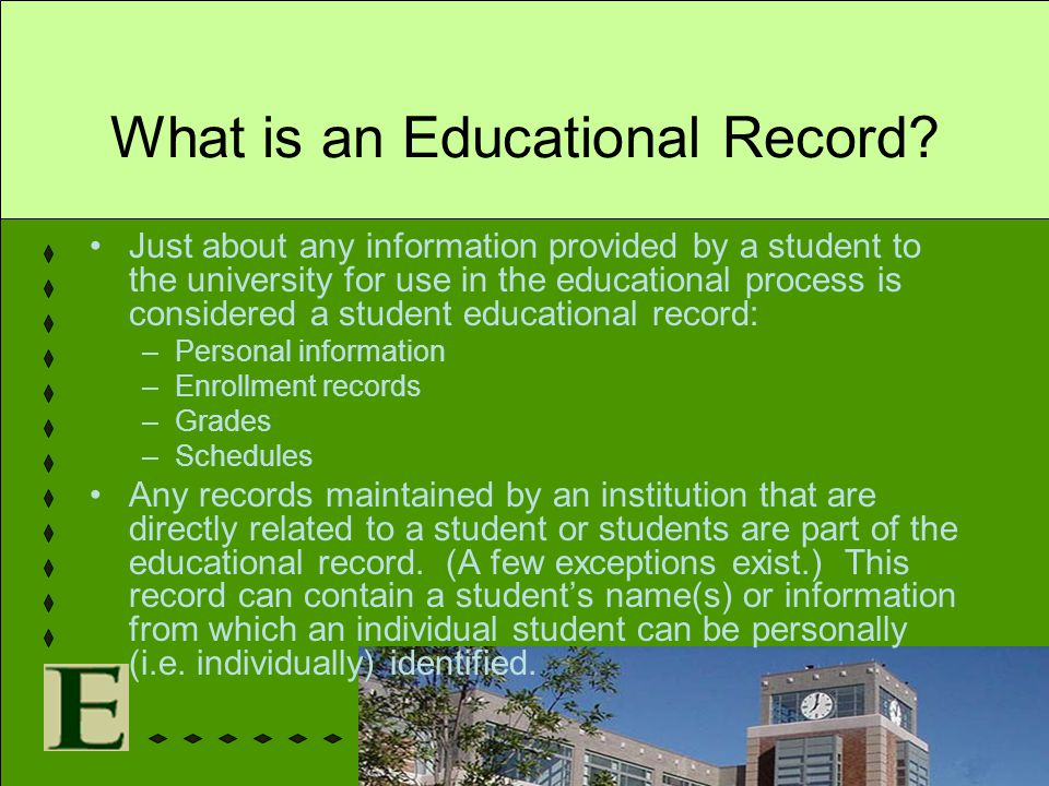 What is an Educational Record