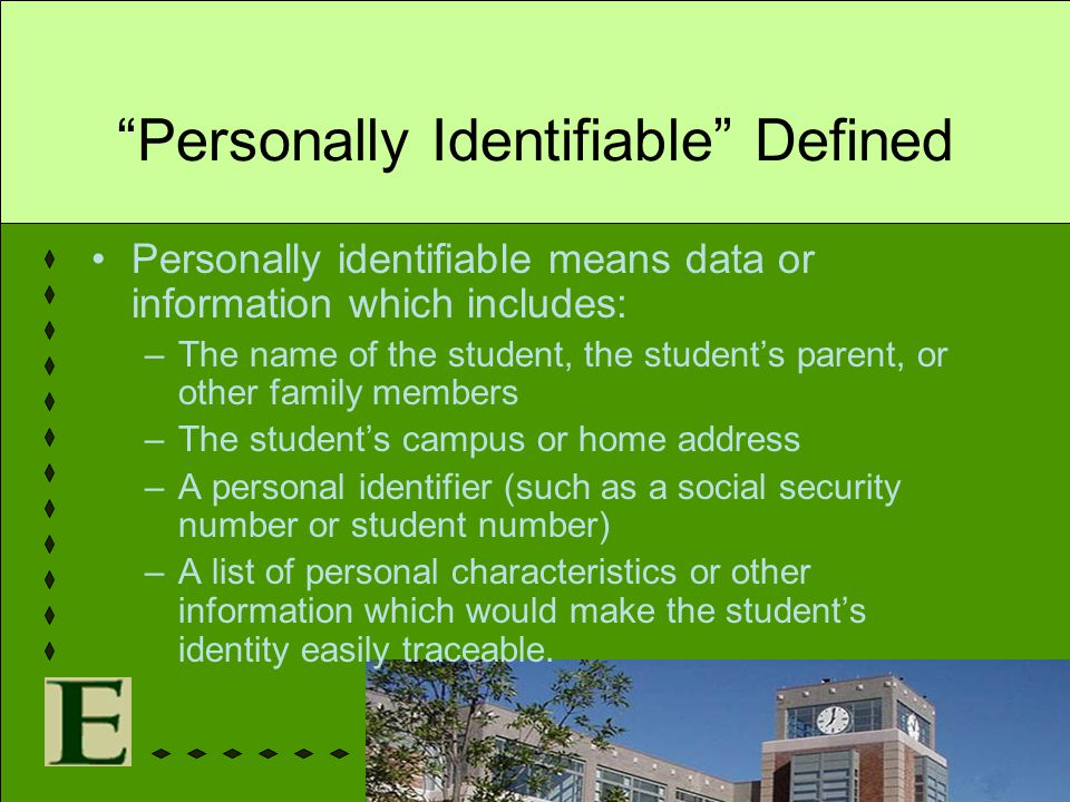 Personally Identifiable Defined