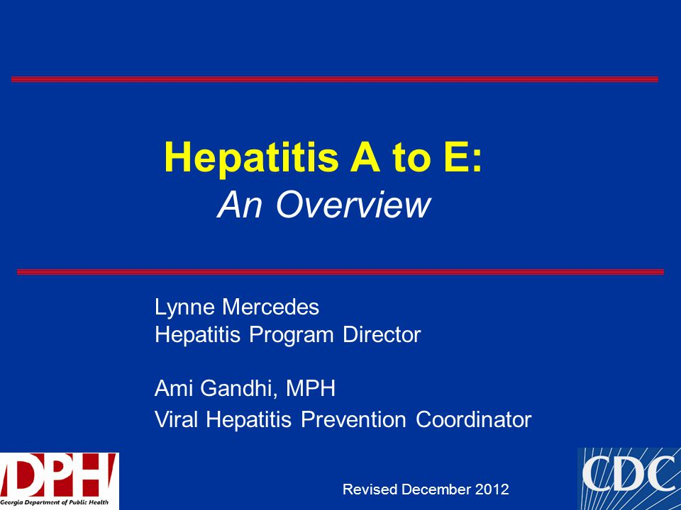 Hepatitis A to E: An Overview