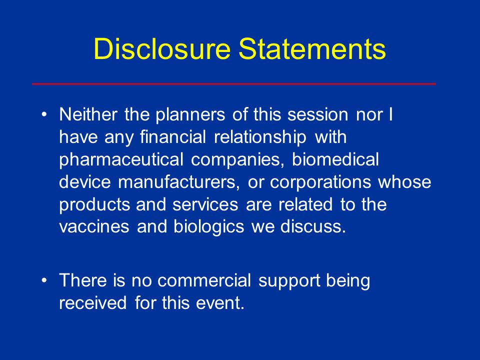 Disclosure Statements