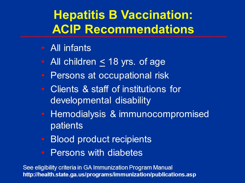 Hepatitis B Vaccination: