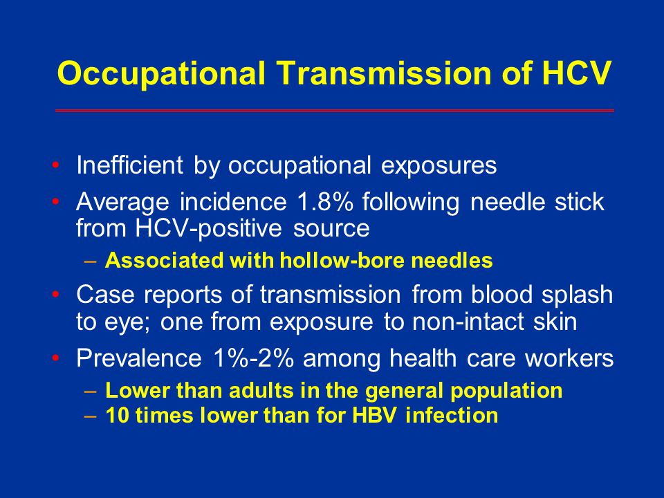 Occupational Transmission of HCV
