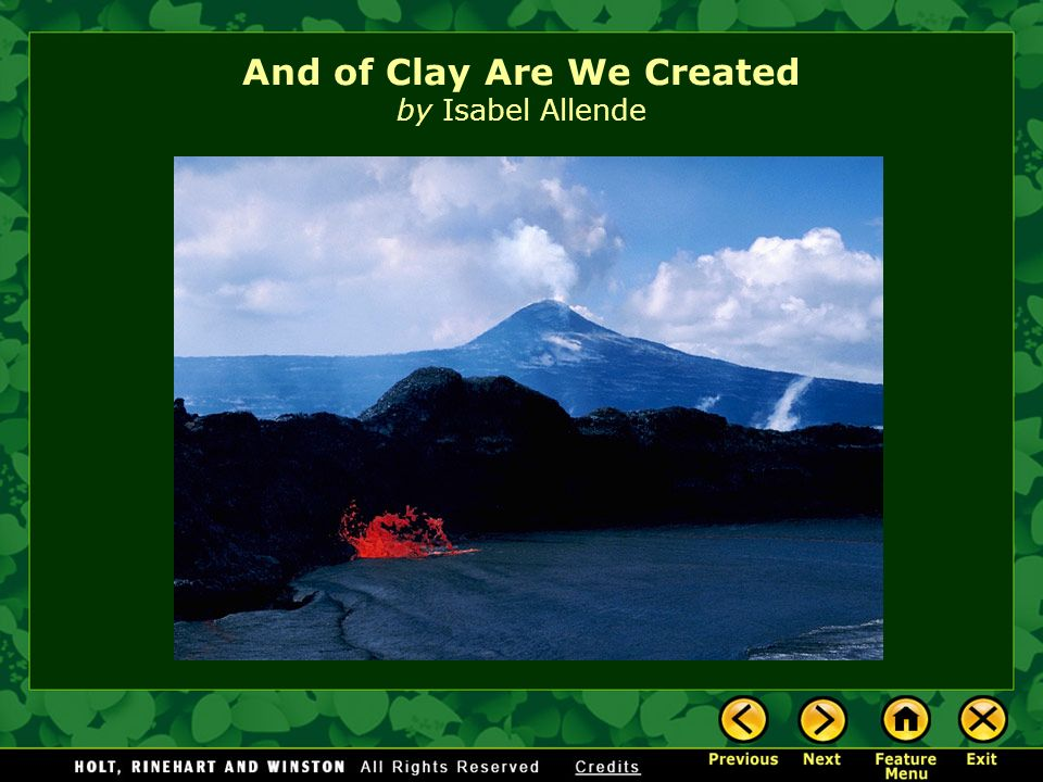 And of Clay Are We Created by Isabel Allende