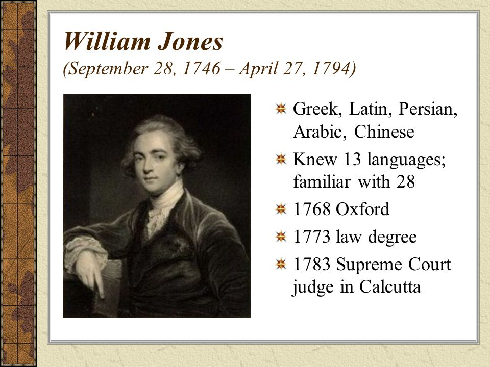 William Jones (September 28, 1746 – April 27, 1794)