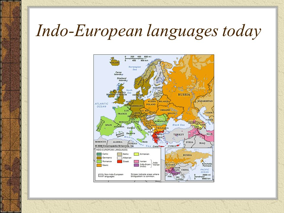 Indo-European languages today