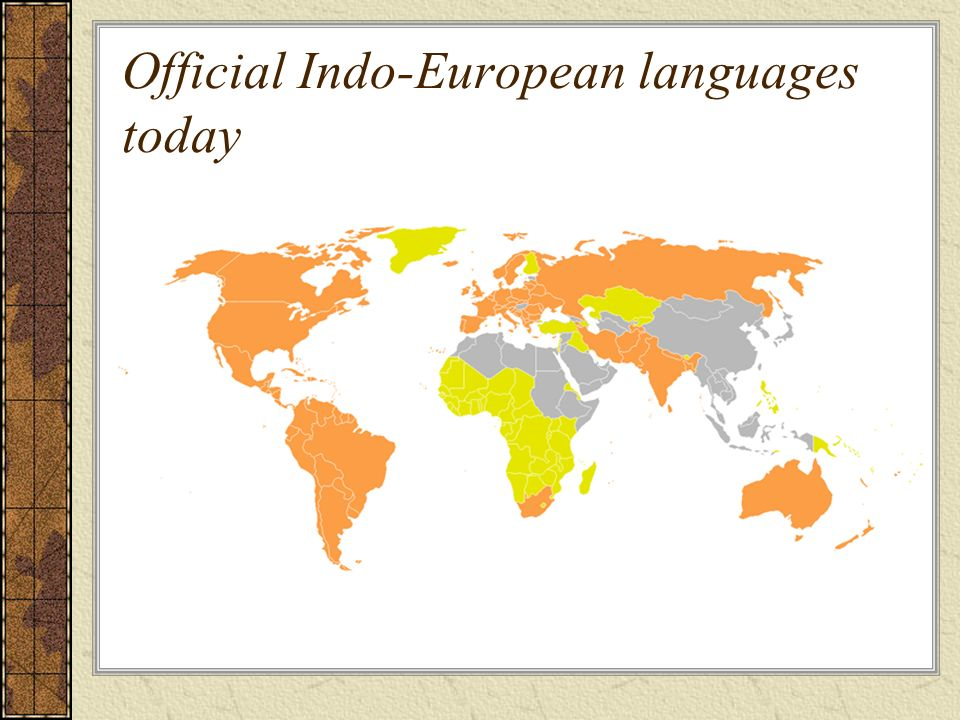Official Indo-European languages today