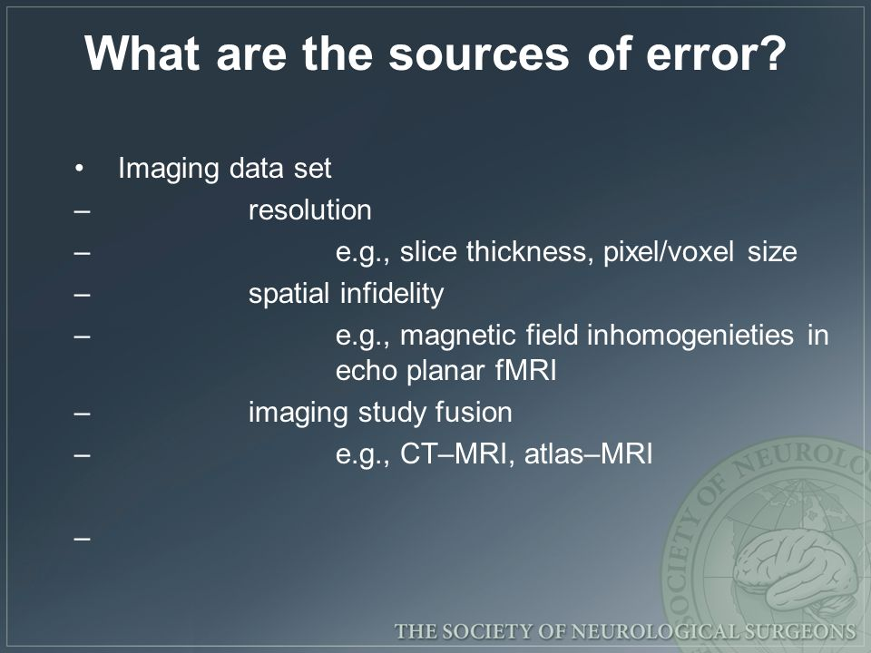 What are the sources of error
