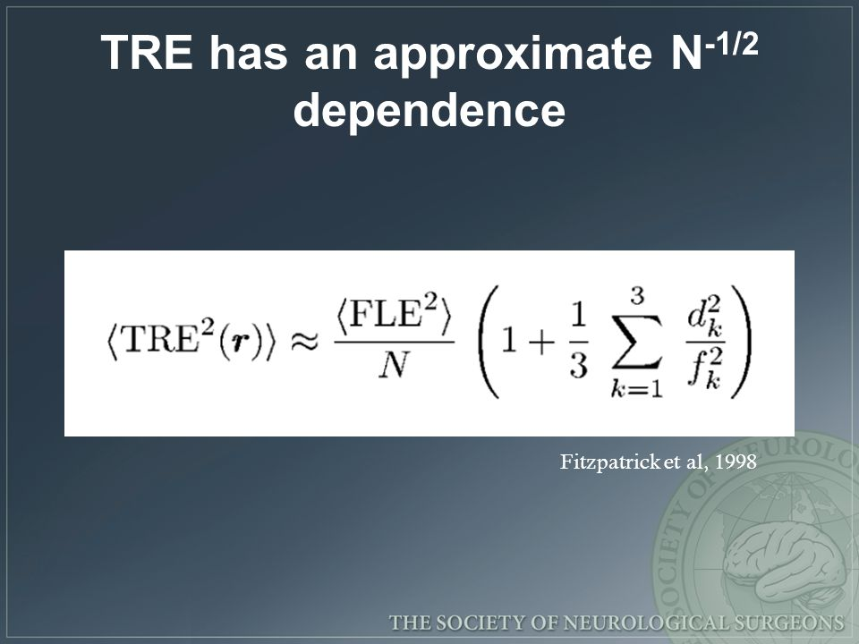 TRE has an approximate N-1/2 dependence