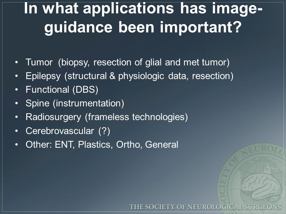 In what applications has image-guidance been important