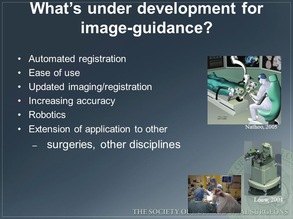 What's under development for image-guidance