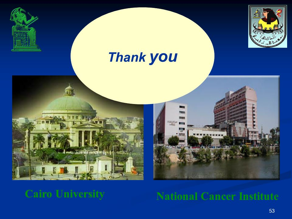 Thank you Cairo University National Cancer Institute