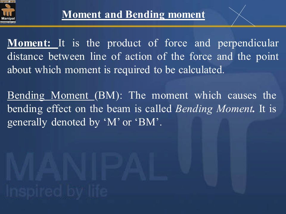 Moment and Bending moment