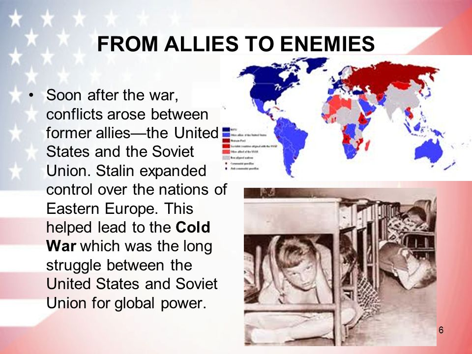 FROM ALLIES TO ENEMIES