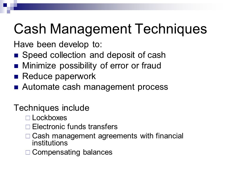 Cash Management Techniques