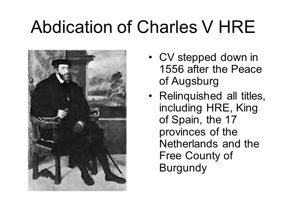 Abdication of Charles V HRE
