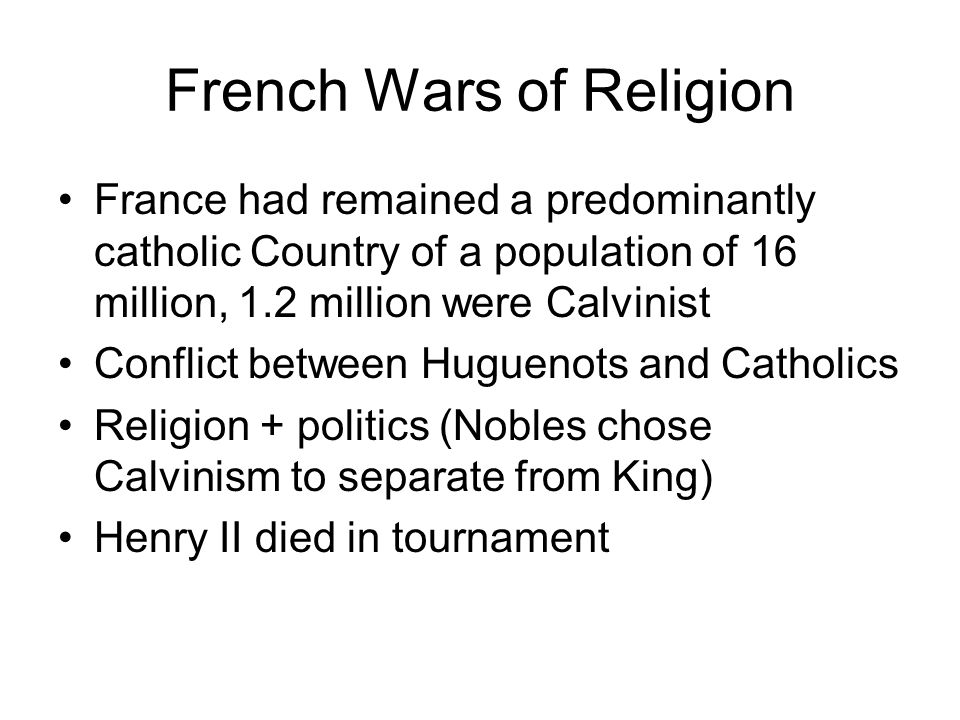 French Wars of Religion