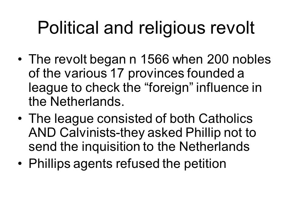 Political and religious revolt