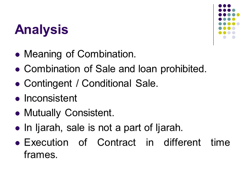 Analysis Meaning of Combination.