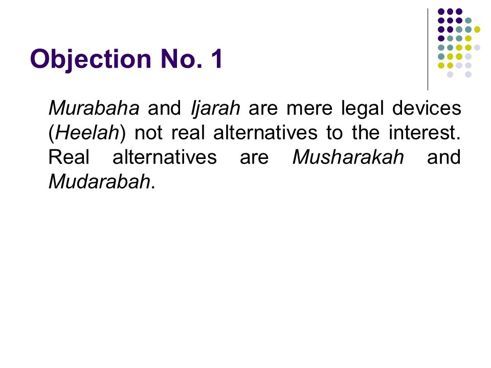 Objection No. 1