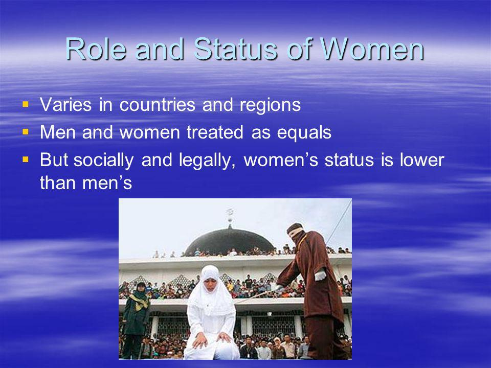 Role and Status of Women