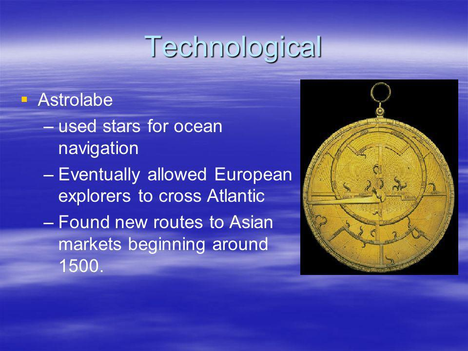 Technological Astrolabe used stars for ocean navigation