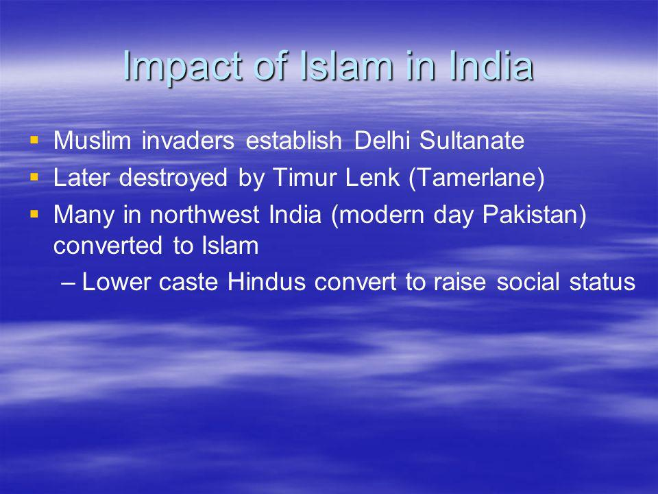 Impact of Islam in India