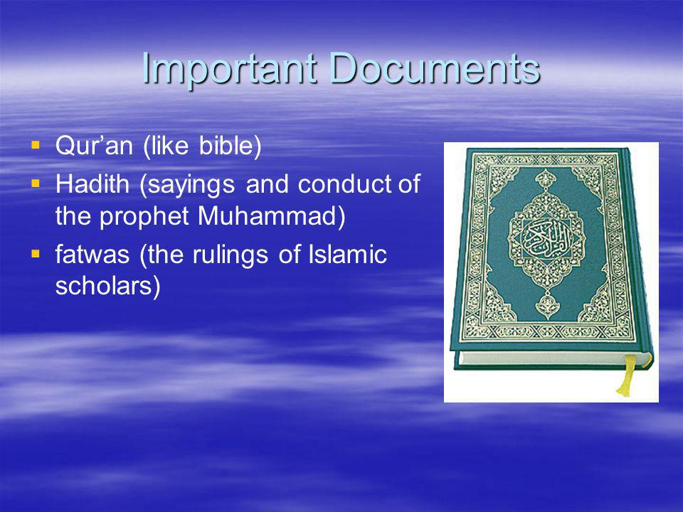 Important Documents Qur'an (like bible)
