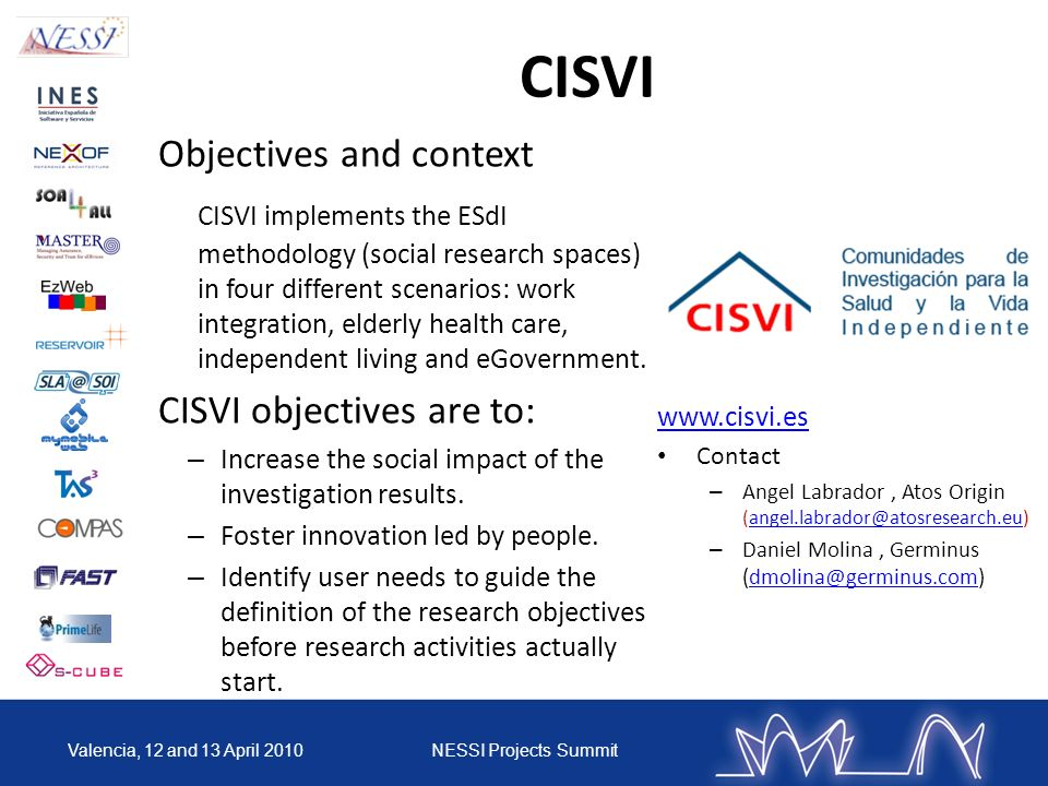 CISVI Objectives and context