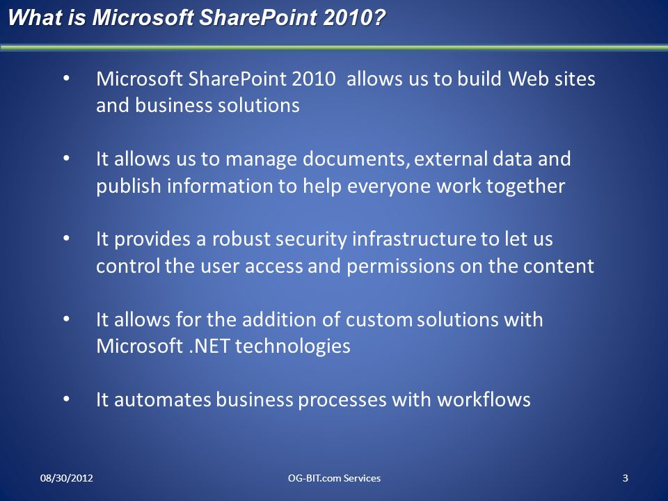 What is Microsoft SharePoint 2010