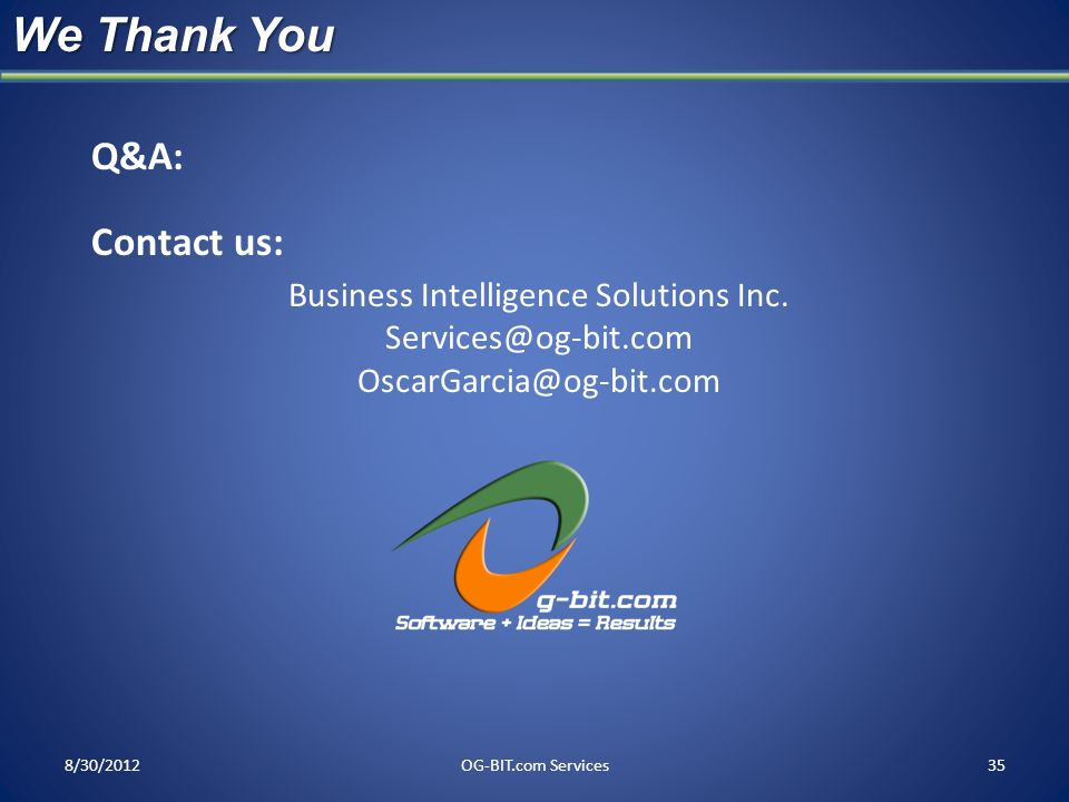 Business Intelligence Solutions Inc.