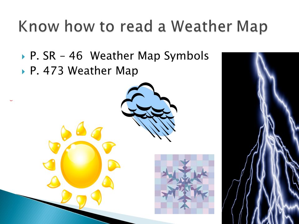 Know how to read a Weather Map