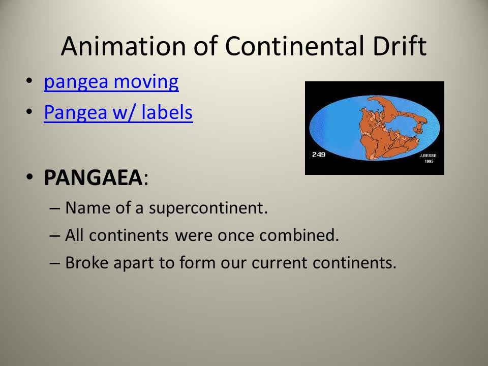 Animation of Continental Drift