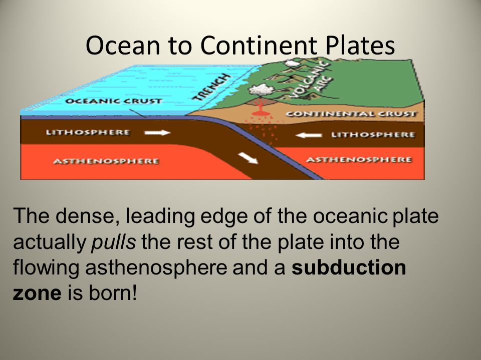 Ocean to Continent Plates