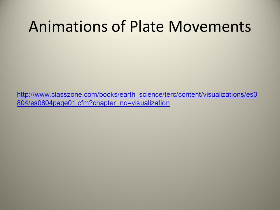 Animations of Plate Movements