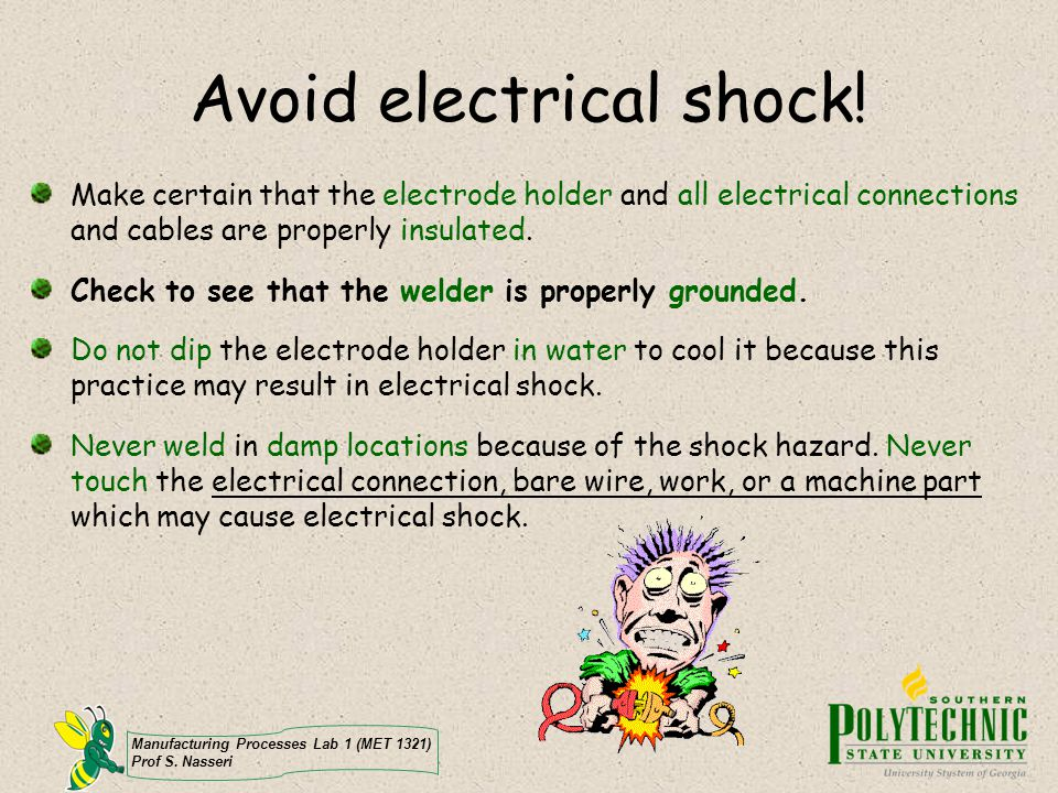 Avoid electrical shock!