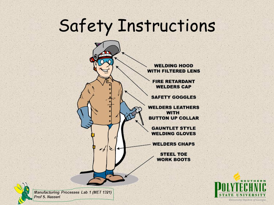 Safety Instructions Manufacturing Processes Lab 1 (MET 1321)