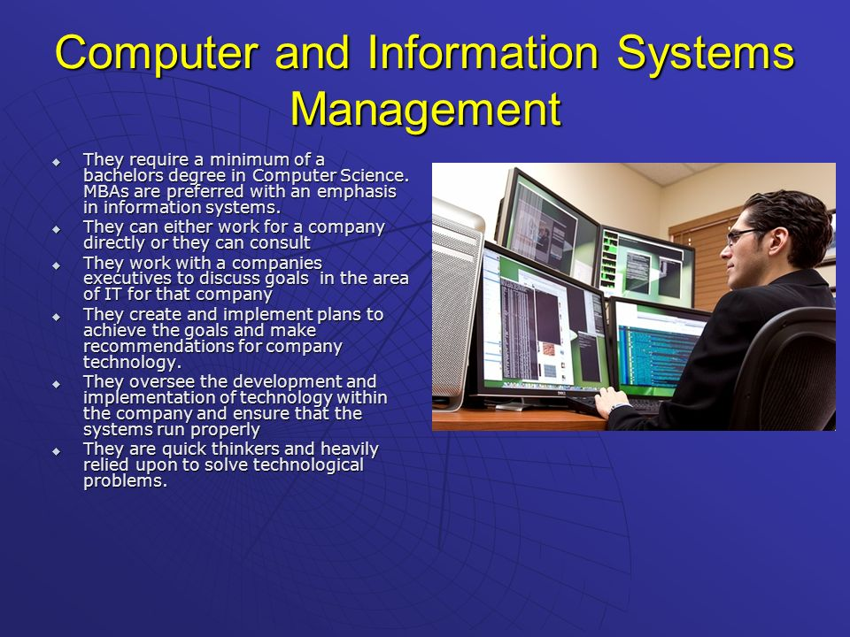 Computer and Information Systems Management