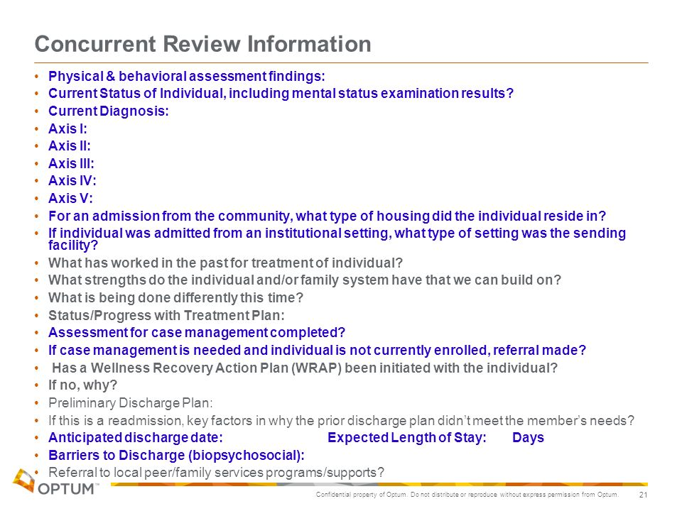 Concurrent Review Information