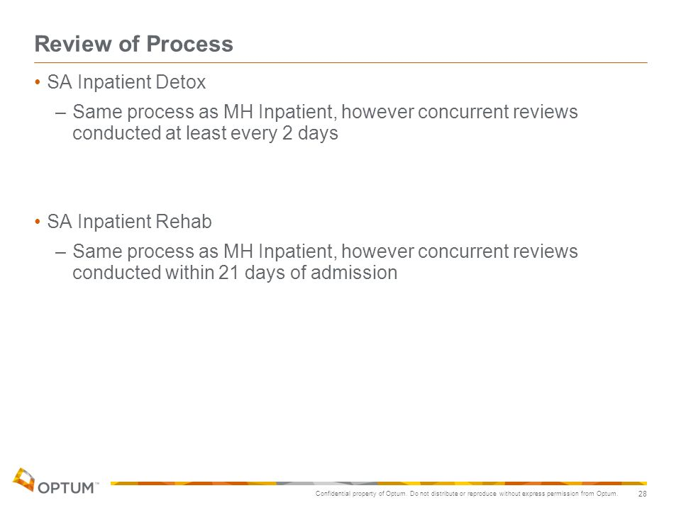 Review of Process SA Inpatient Detox