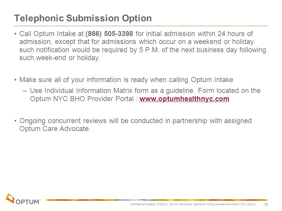 Telephonic Submission Option