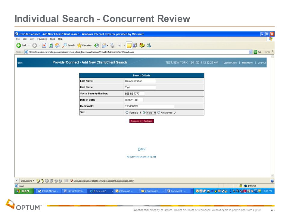 Individual Search - Concurrent Review