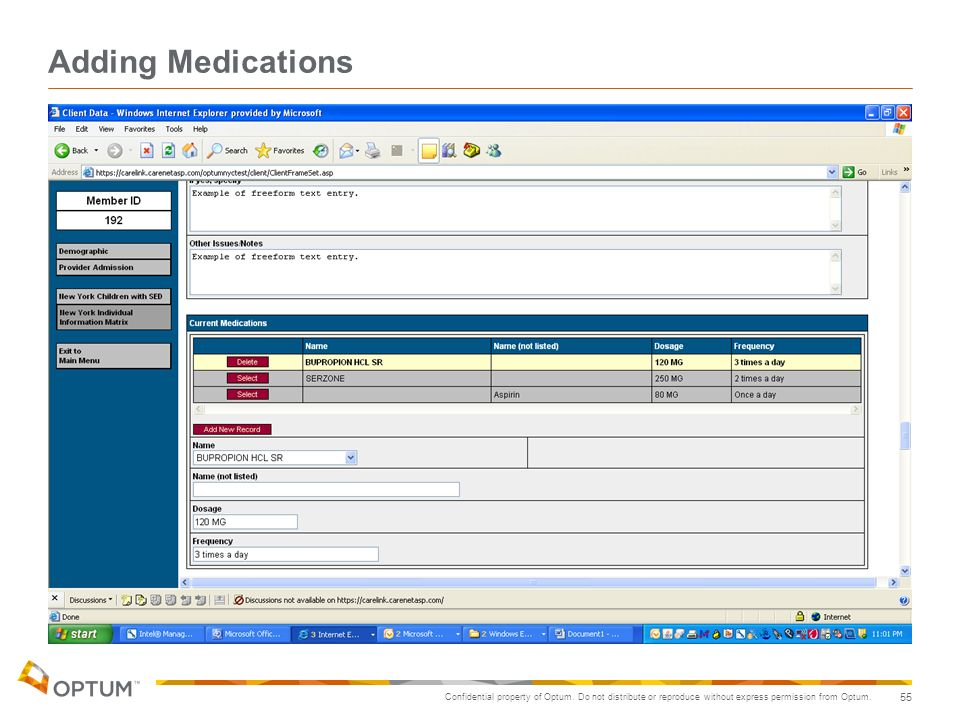 Adding Medications