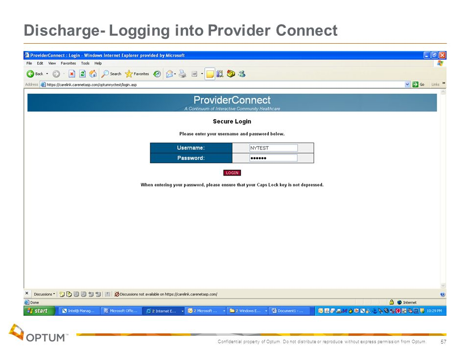 Discharge- Logging into Provider Connect